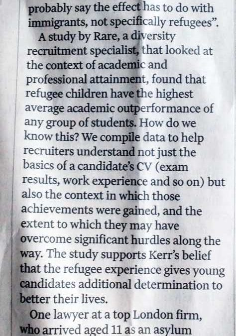 Education and refugees