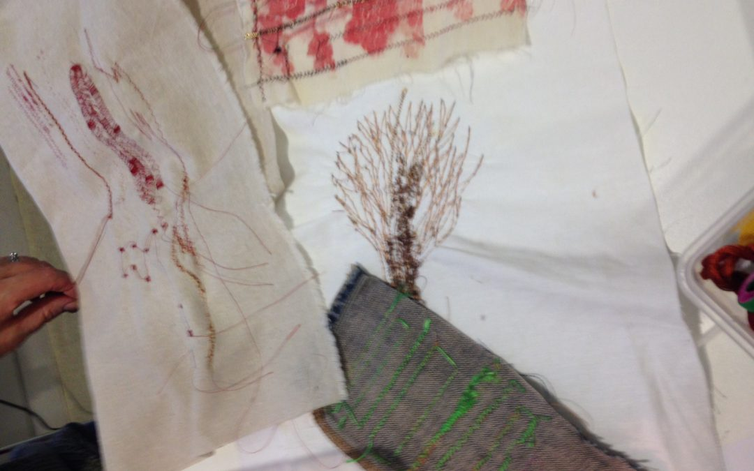 Stitching with machines