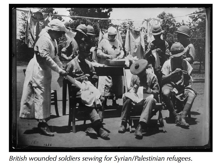 Sewing for Syrian refugees, 1917