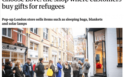 Choose Love: the shop where customers buy gifts for refugees