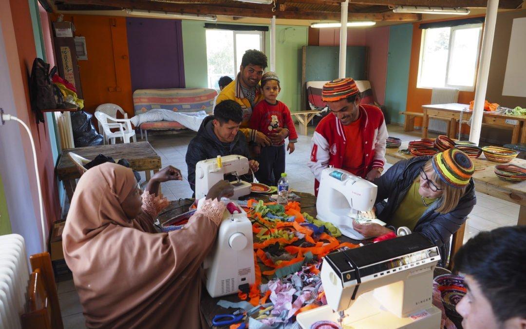 Sewing machines at Pikpa